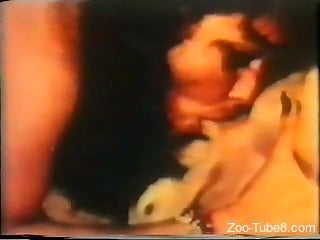 Vintage zoophilia action with a beautiful doggy