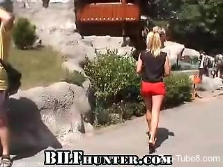 Blond-haired bestiality addict fucking a snake