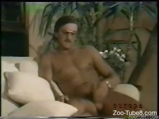 Amateur ladies share a dog dick in scenes of vintage zoophilia