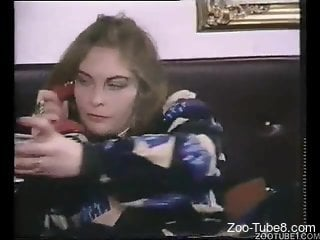 Vintage video featuring a good-looking fuzzy beast